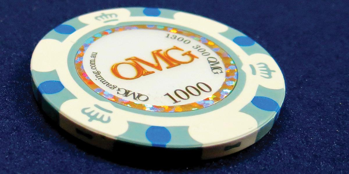 Casino party custom chips