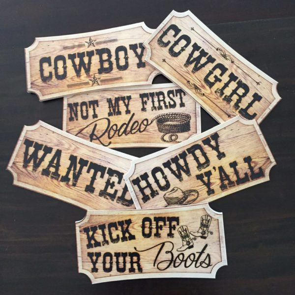 Photo Booth Props - Wild West