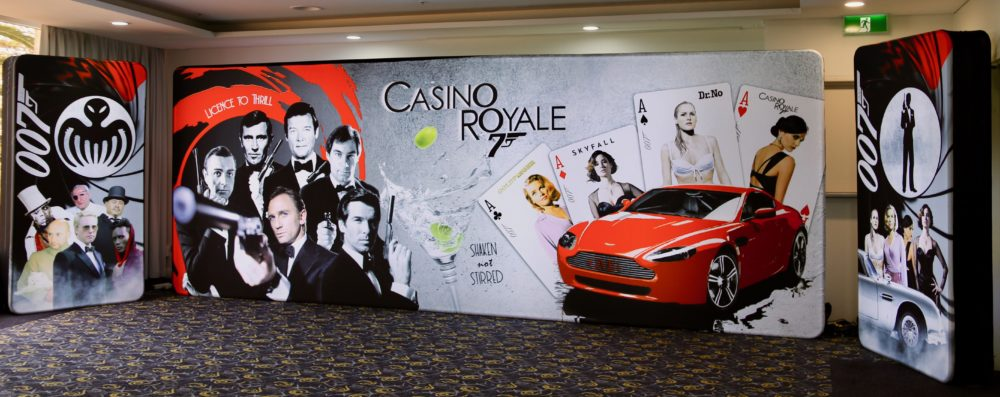 James Bond Casino Royale LED Backdrop Set